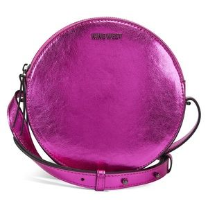 Nine West Round About Circle Med Pink Crossbody